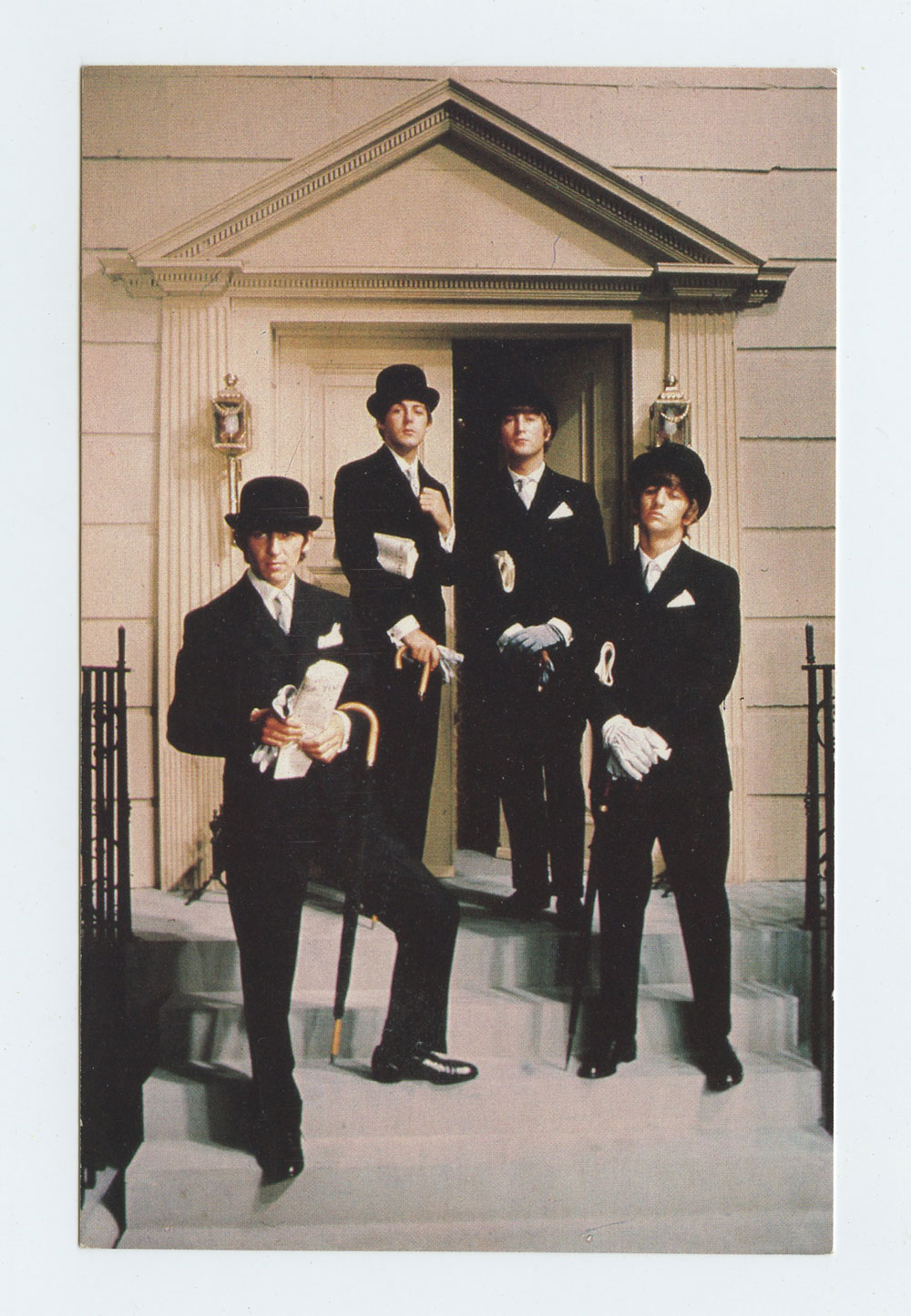 The Beatles Postcard The Saturday Evening Post 1964 cover R1981