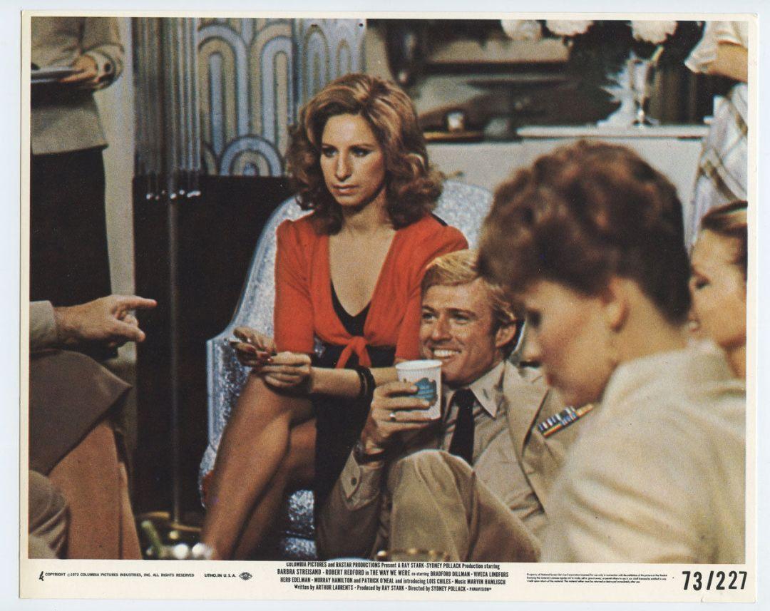 Barbra Streisand Robert Redford 1973 The Way We Were 8x10 Lobby Card