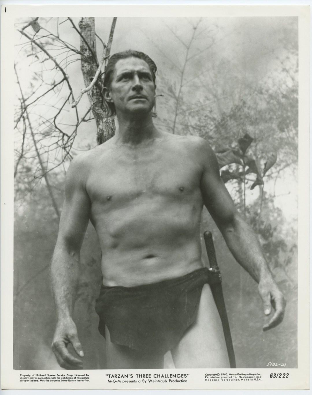 Jock Mahoney 1963 Tarzan's Three Challenges 8x10 B/W Lobby Card