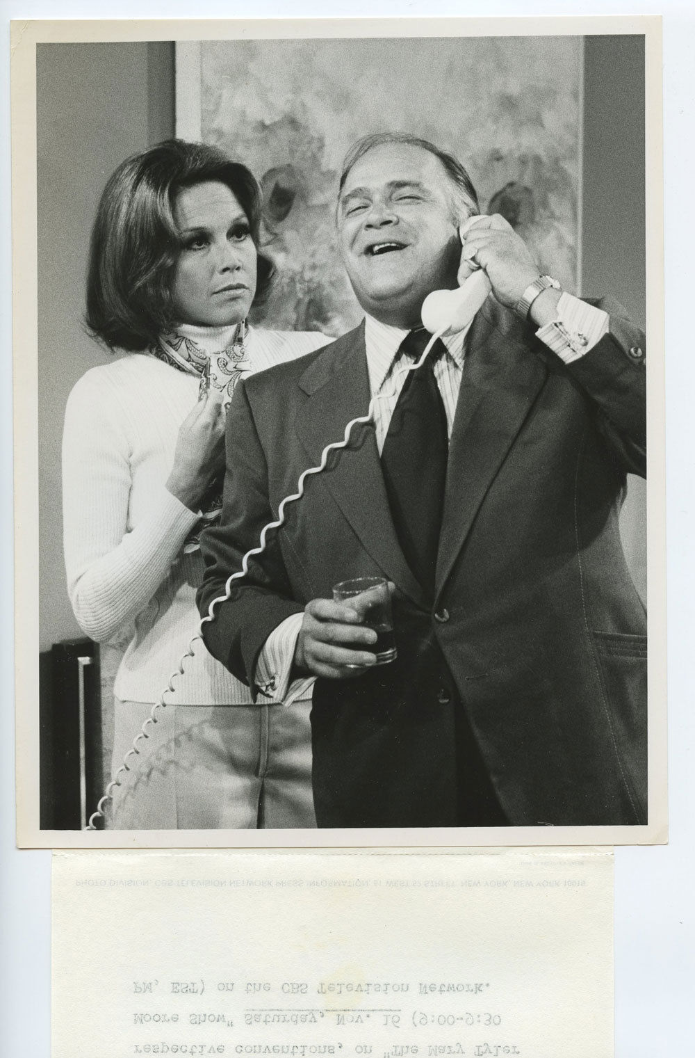 Mary Tyler Moor 1974 Oct 18 CBS TV Show Promo Photo