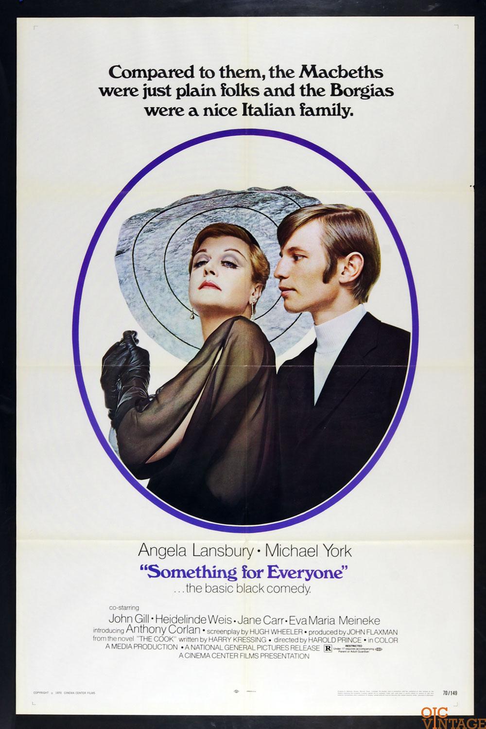 Something for Everyone Movie Poster 1970 Angela Lansbury Michael York 27 x 41 1 sheet