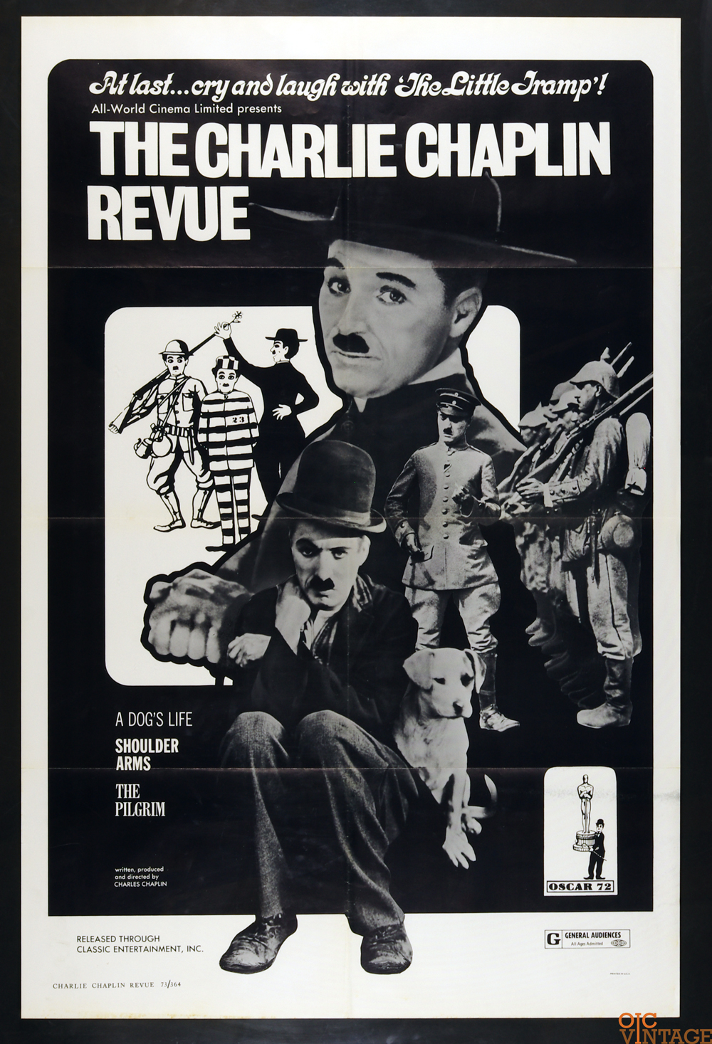 Charlie Chaplin Revue Movie Poster R1973 27x41 1 Sheet