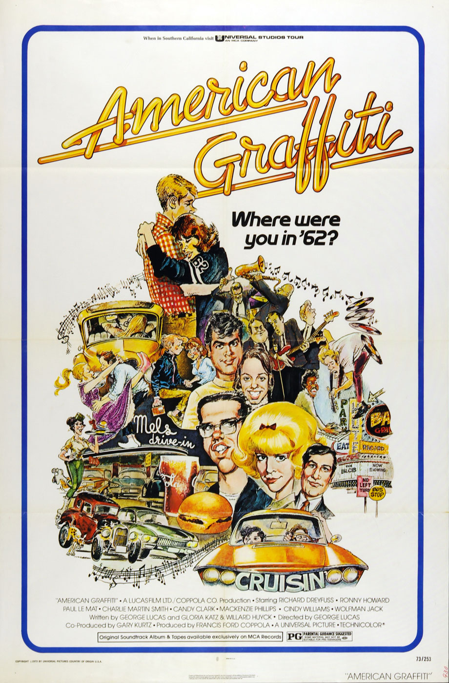 American Griffiti 1973 Vintage Movie Poster 27x41 1 sheet