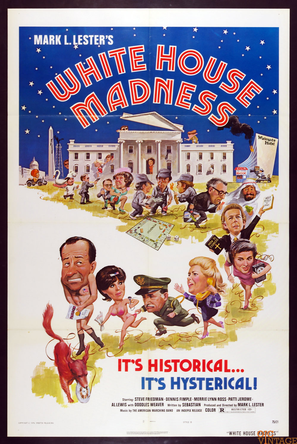 White House Madness Movie Poster 1975 27 x 41 1 Sheet