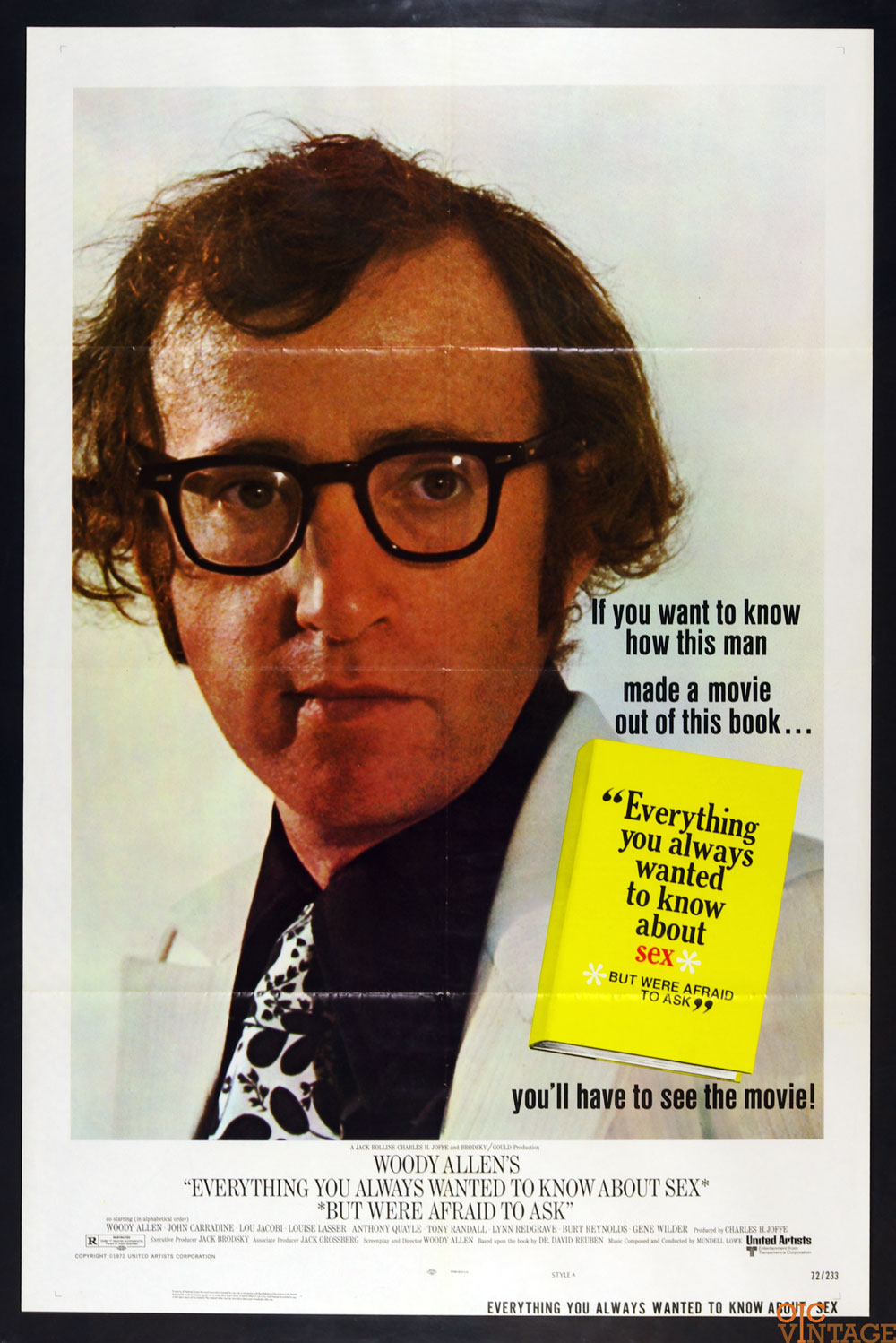 Everything You Always Wanted to Know about Sex Movie Poster 1972 Woody Allen 27 x 41
