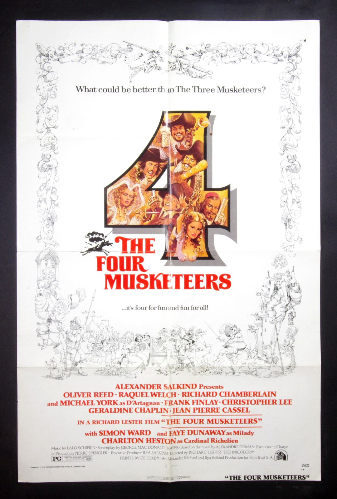 The Four Musketeers Milady's Revenge Movie Poster 1974 27x41 1 sheet