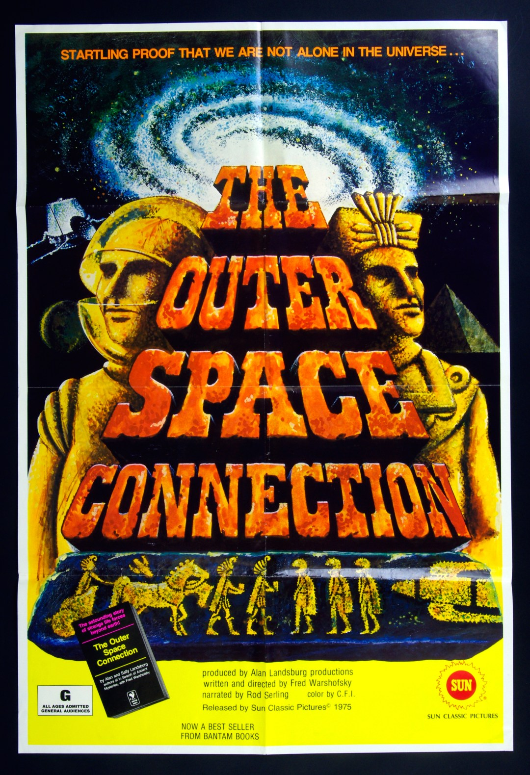 The Outer Space Connection Movie Poster 1975 Documentary 27 x 40