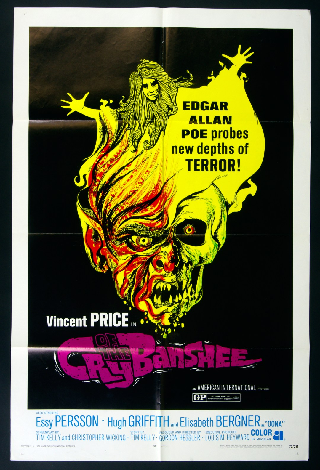 Cry of The Banshee Movie Poster 1970 Vincent Price 27 x 41 1 Sheet