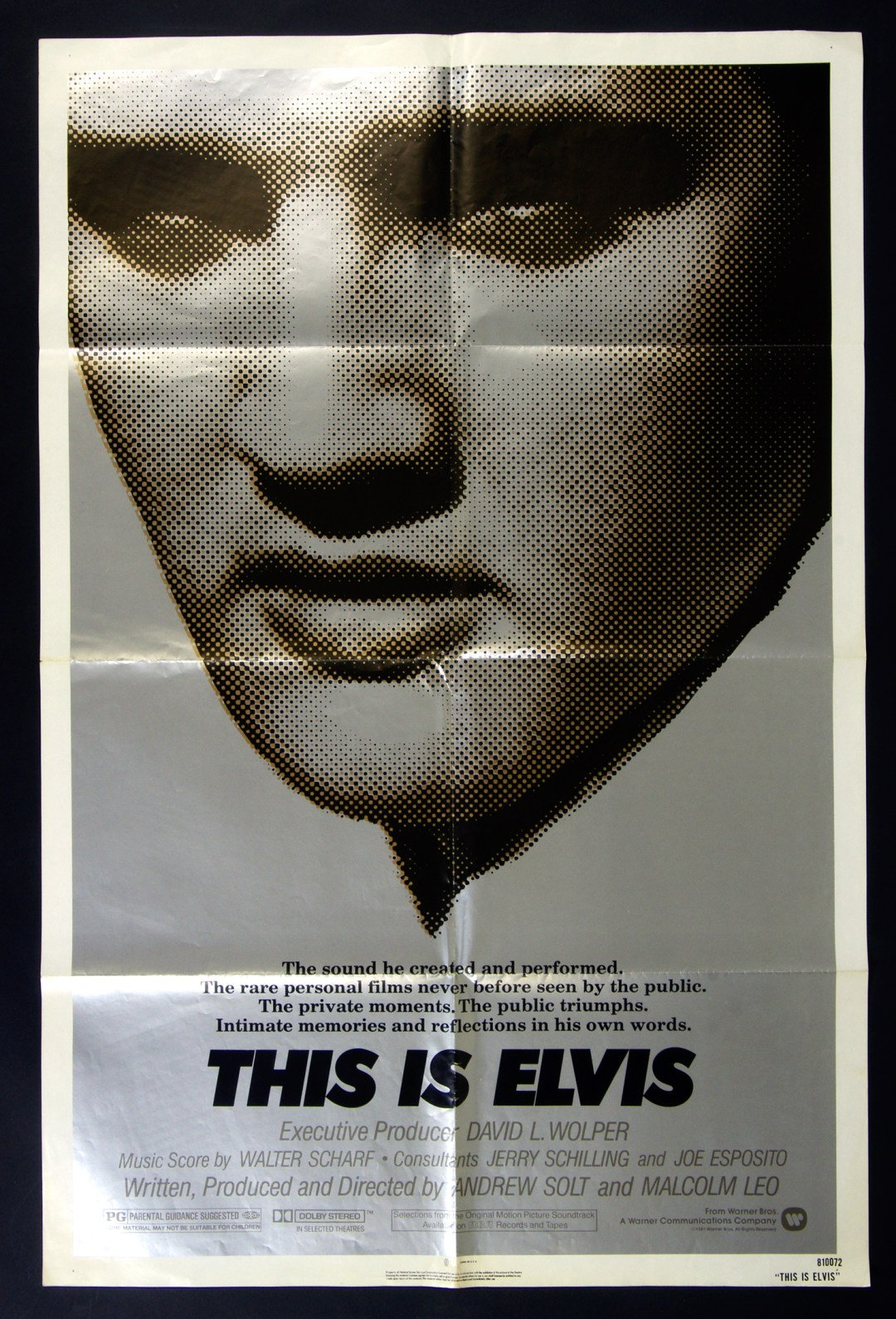 Elvis Presley Movie Poster 1981 This is Elvis 27 x 41