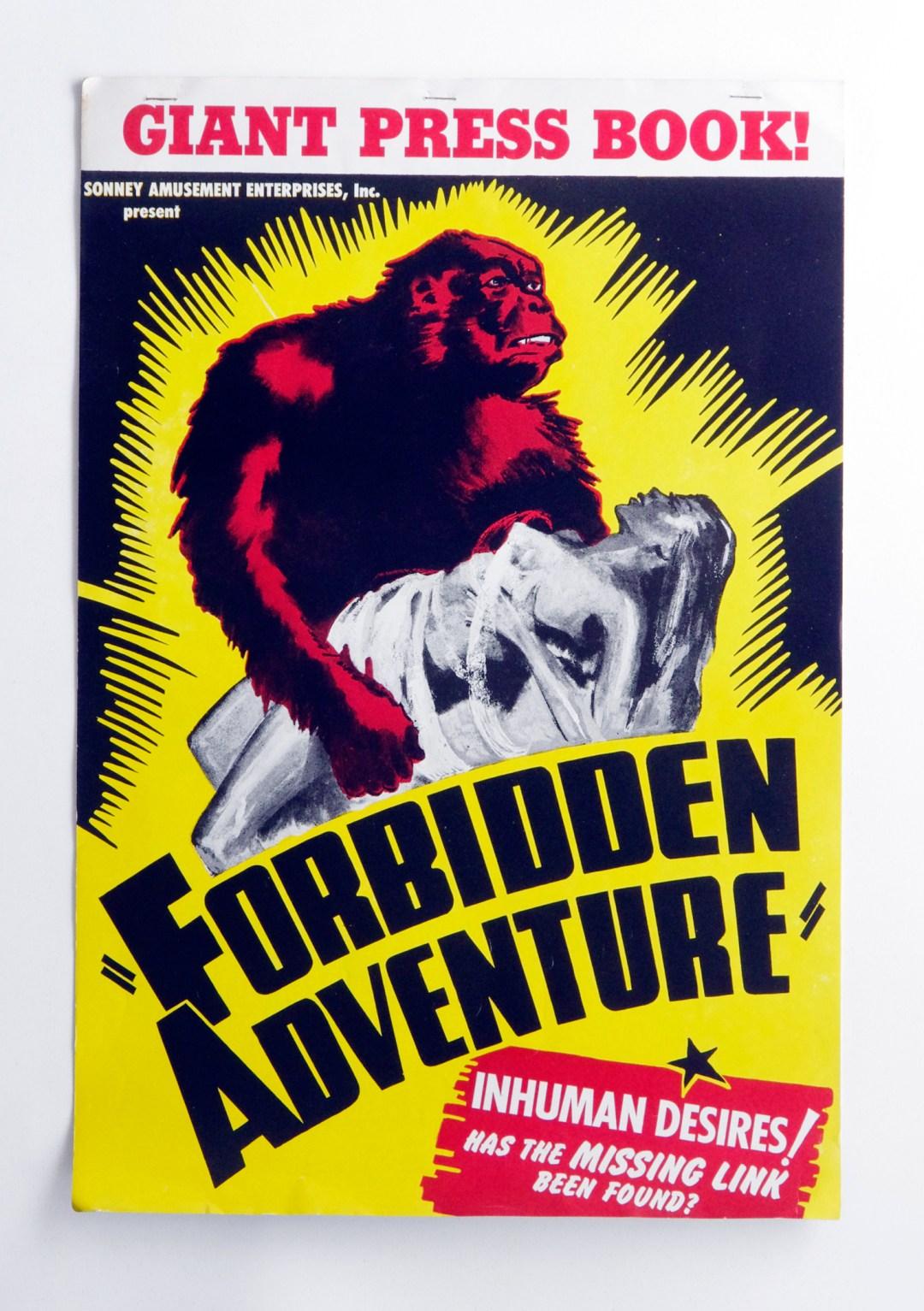 Forbidden Adventure Movie Press Book aka Gorilla Woman Angkor 1935