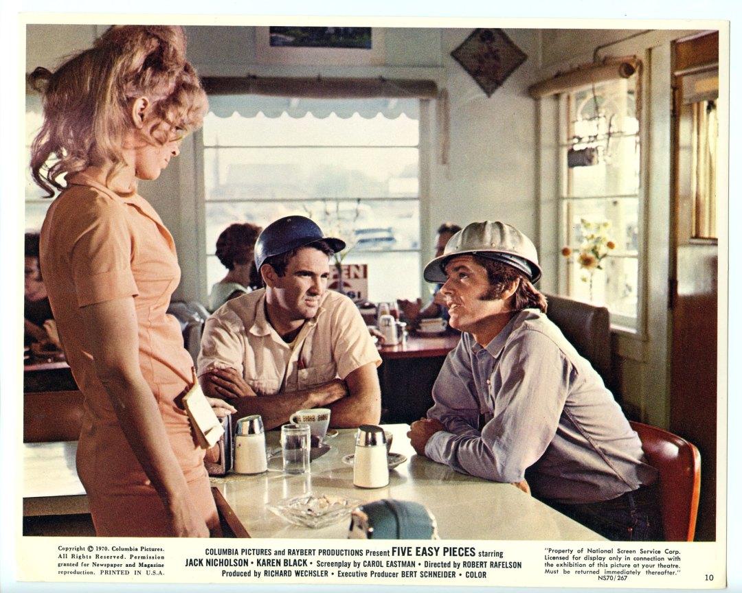 Jack Nicholson Lobby Card 1970 Five Easy Pieces