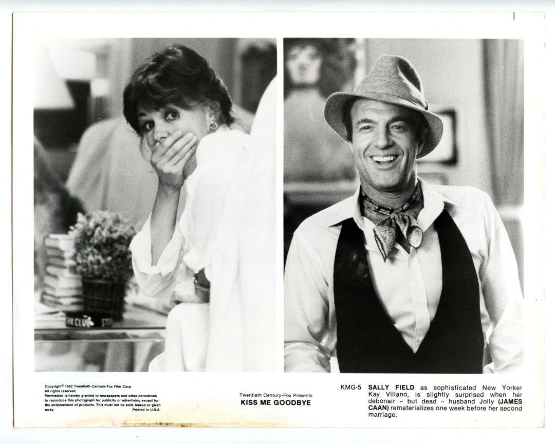 Sally Field James Caan 1982 Kiss Me Goodbye  Lobby Card