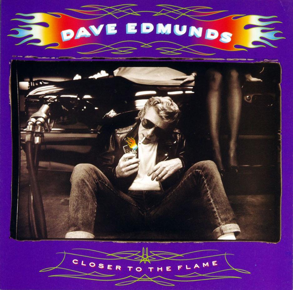 Dave Edmunds Poster Flat Closer to the Flame 1990 Album Promo 12 x 12