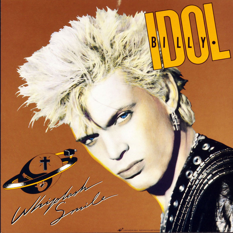 Billy Idol Poster Flat Whiplash Smile 1986 Album Promo 12x12 2 sided