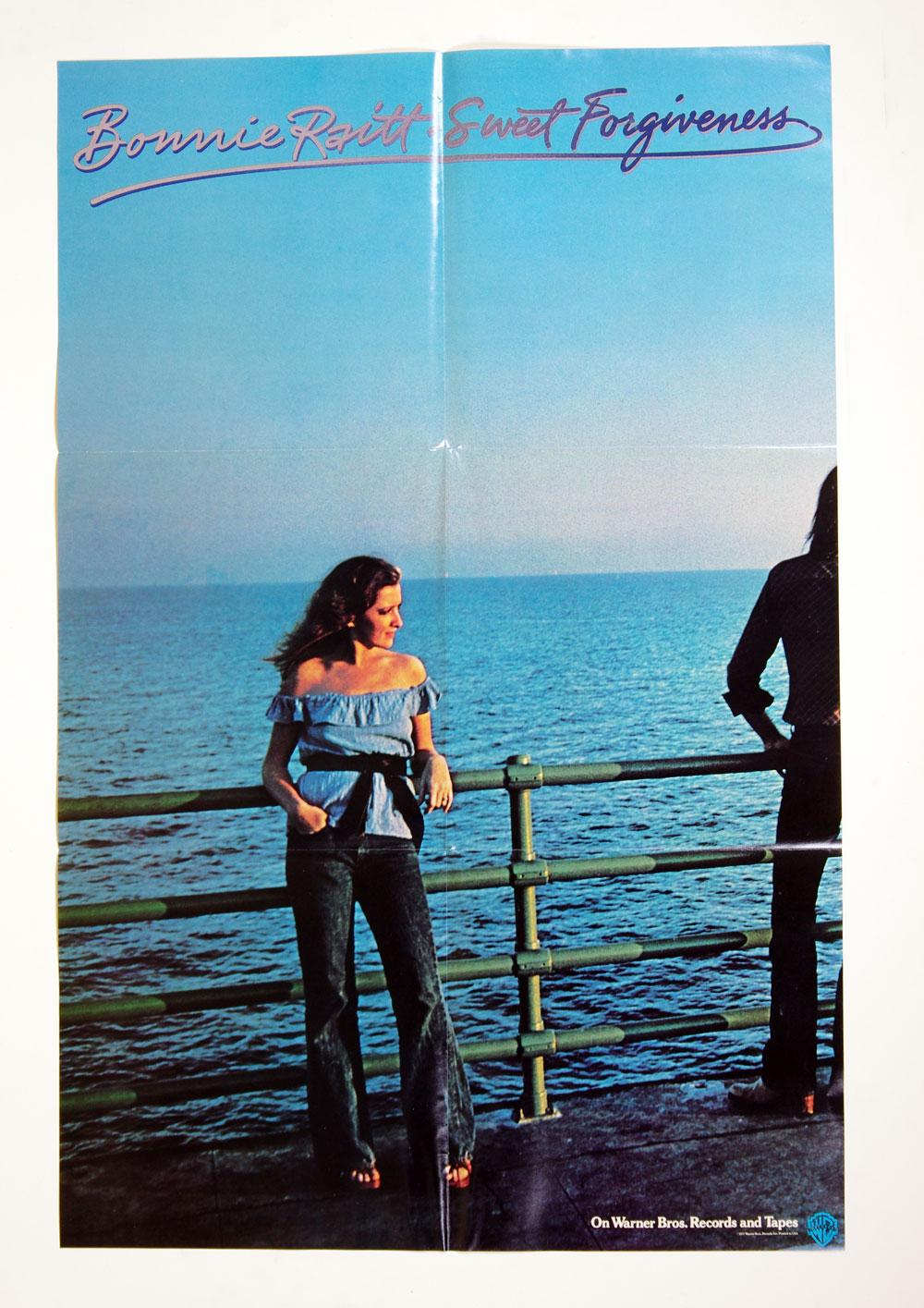 Bonnie Raitt Poster Sweet Foregiveness 1977 New Album Promo 23 x 35