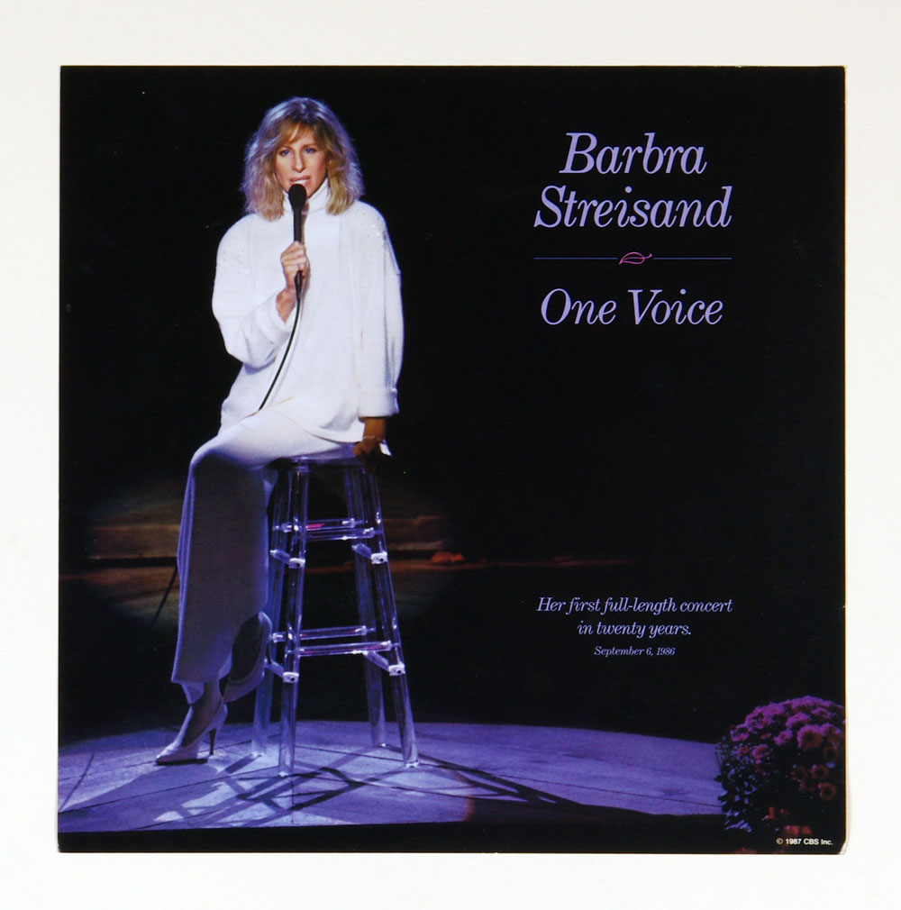 Barbra Streisand Poster Flat One Voice 1987 12x12 Album Promo 2 sided
