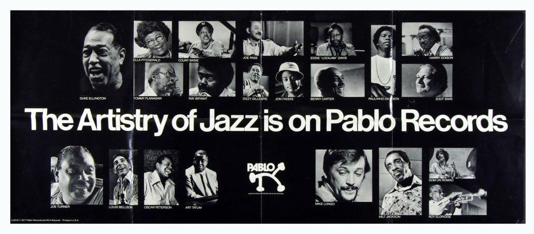 Jazz Albums Promo Poster 1977 Duke Ellington Ella Fitzgerald Count Basie 20  x 48