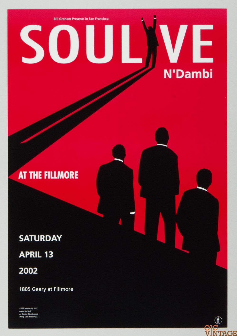 New Fillmore F517 Poster Soulove N'ambi 2002 Apr 13