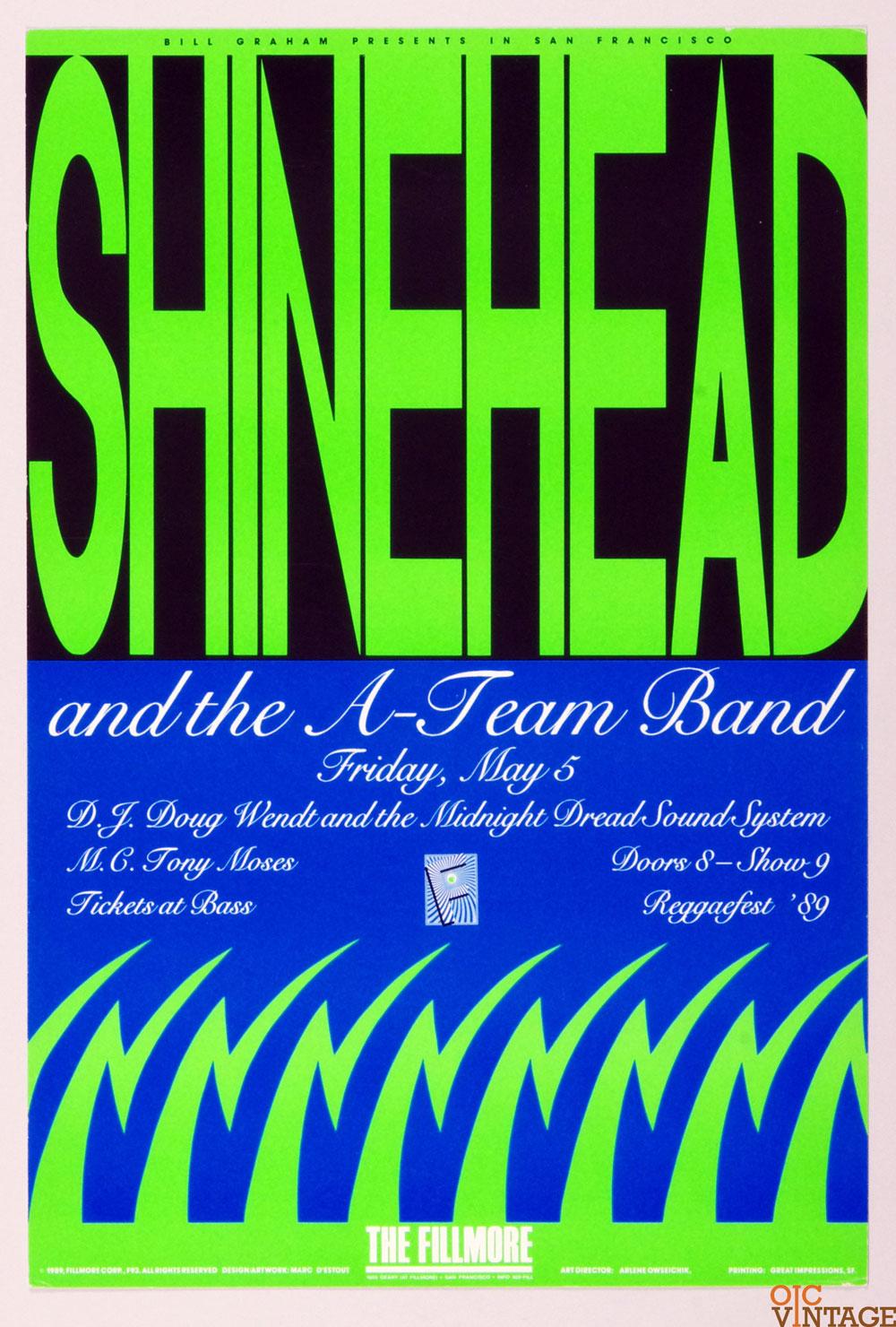 Shinehead and the A-Team Band Poster 1989 May 5 New Fillmore
