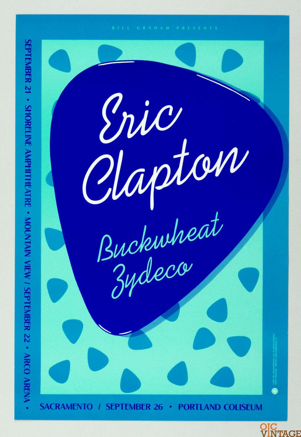 Eric Clapton Poster 1988 Sep 21 Shoreline Amphithatre BGP 26