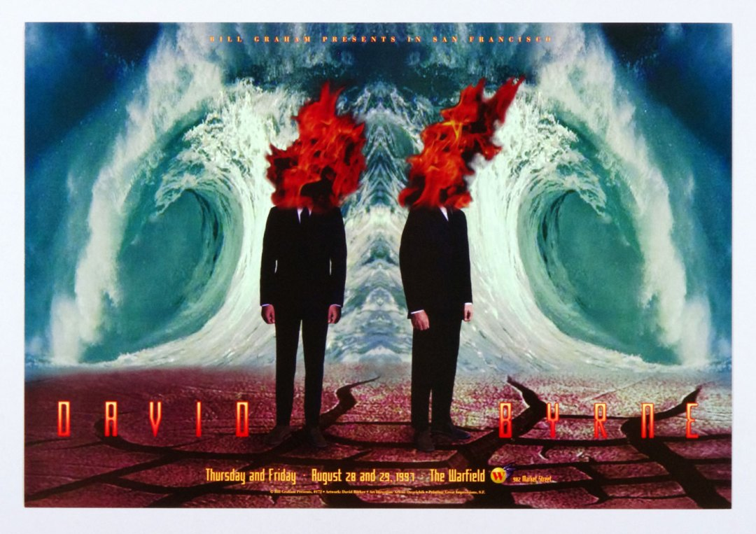 David Byrne Poster 1997 Aug 28 The Warfield Theatre San Francisco BGP 172