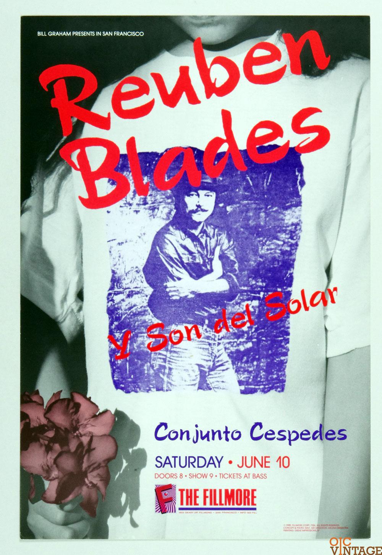 New Fillmore F106 Poster Reuben Blades y Son del Solar 1989 Jun 10