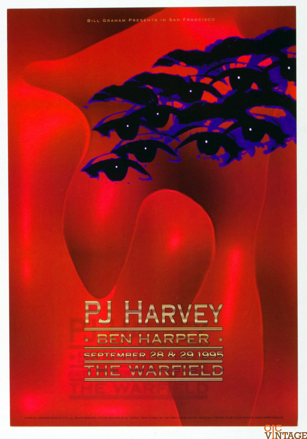Bill Graham Presents Poster 1995 Sep 28 PJ Harvey Ben Harper #131