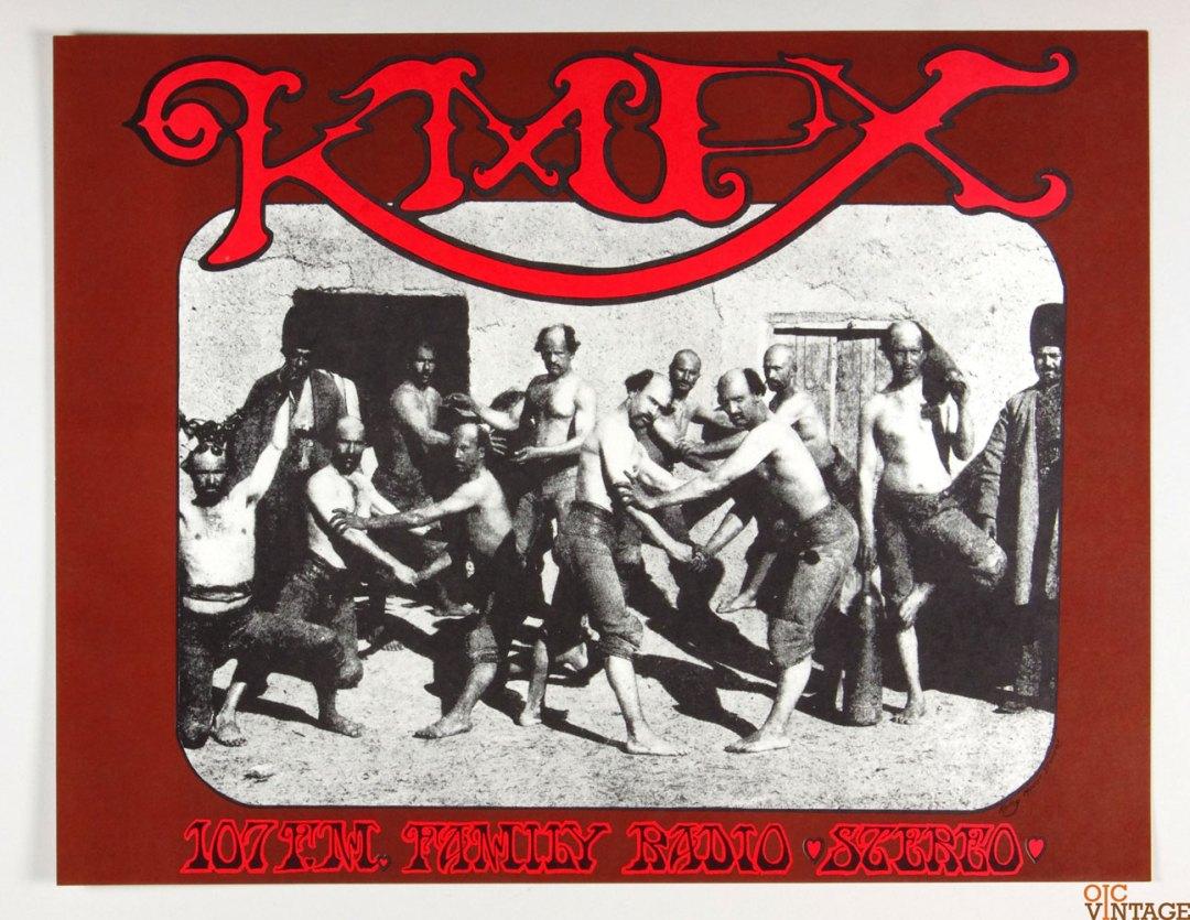 KMPX 107 FM Promo Poster 1967 Stanley Mouse Alton Kelley AOR 2.259