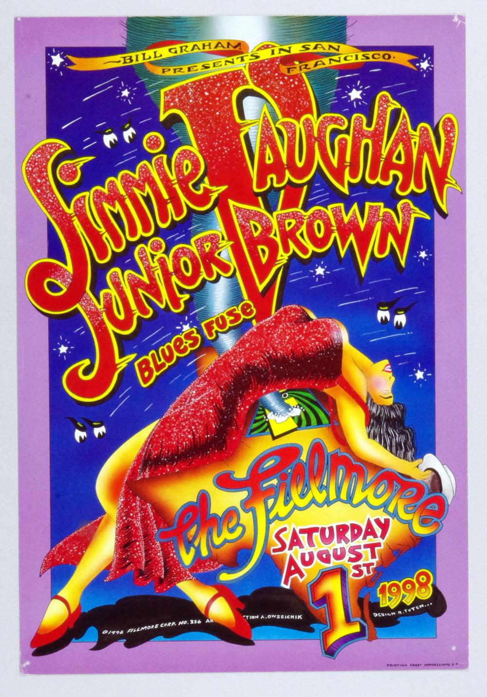 New Fillmore F336 Poster Jimmie Vaughan Junior Brown 1988 Aug 1