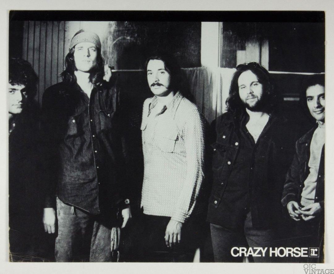 Crazy Horse Poster Cardboard 1972 Crazy Horse Album Promo  B/W  22 x 27