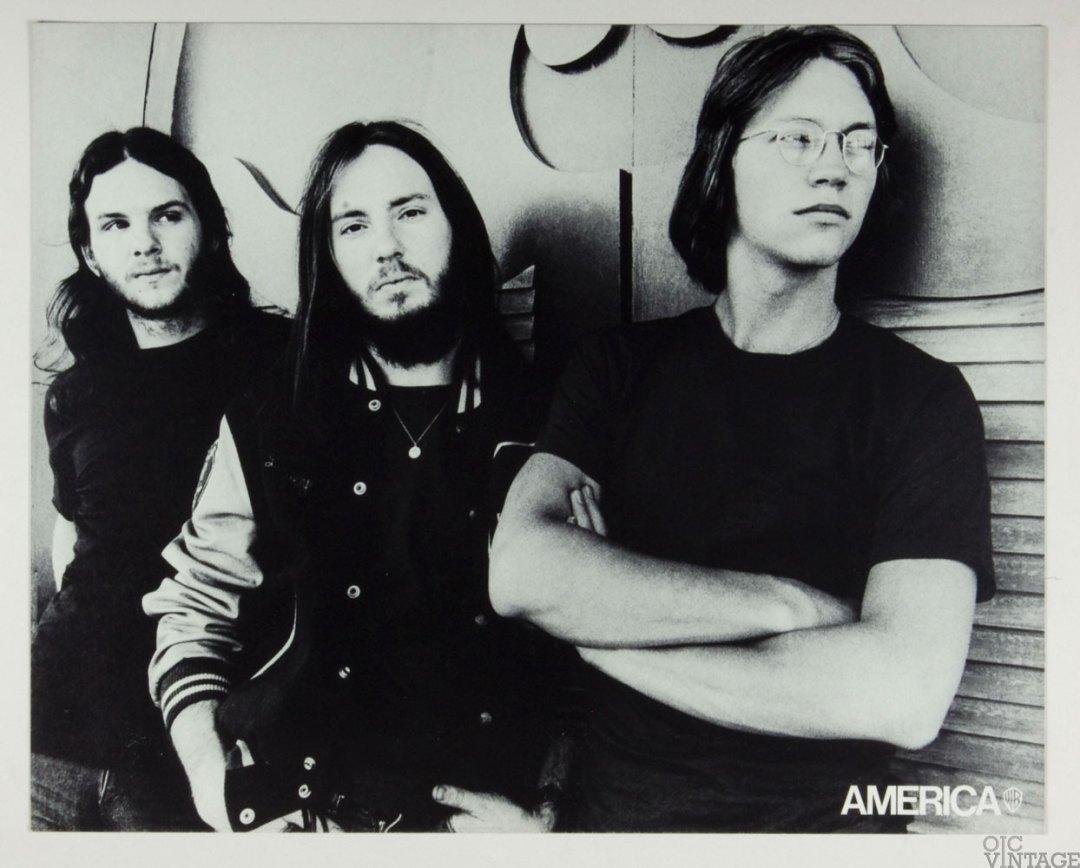 America Poster Cardboard Home Coming 1972 New Album Promo  B/W 22 x 27