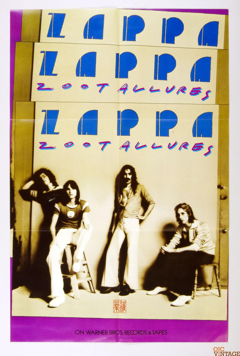 Frank Zappa Poster Zoot Allures 1976 New Album Promo 23 x 35