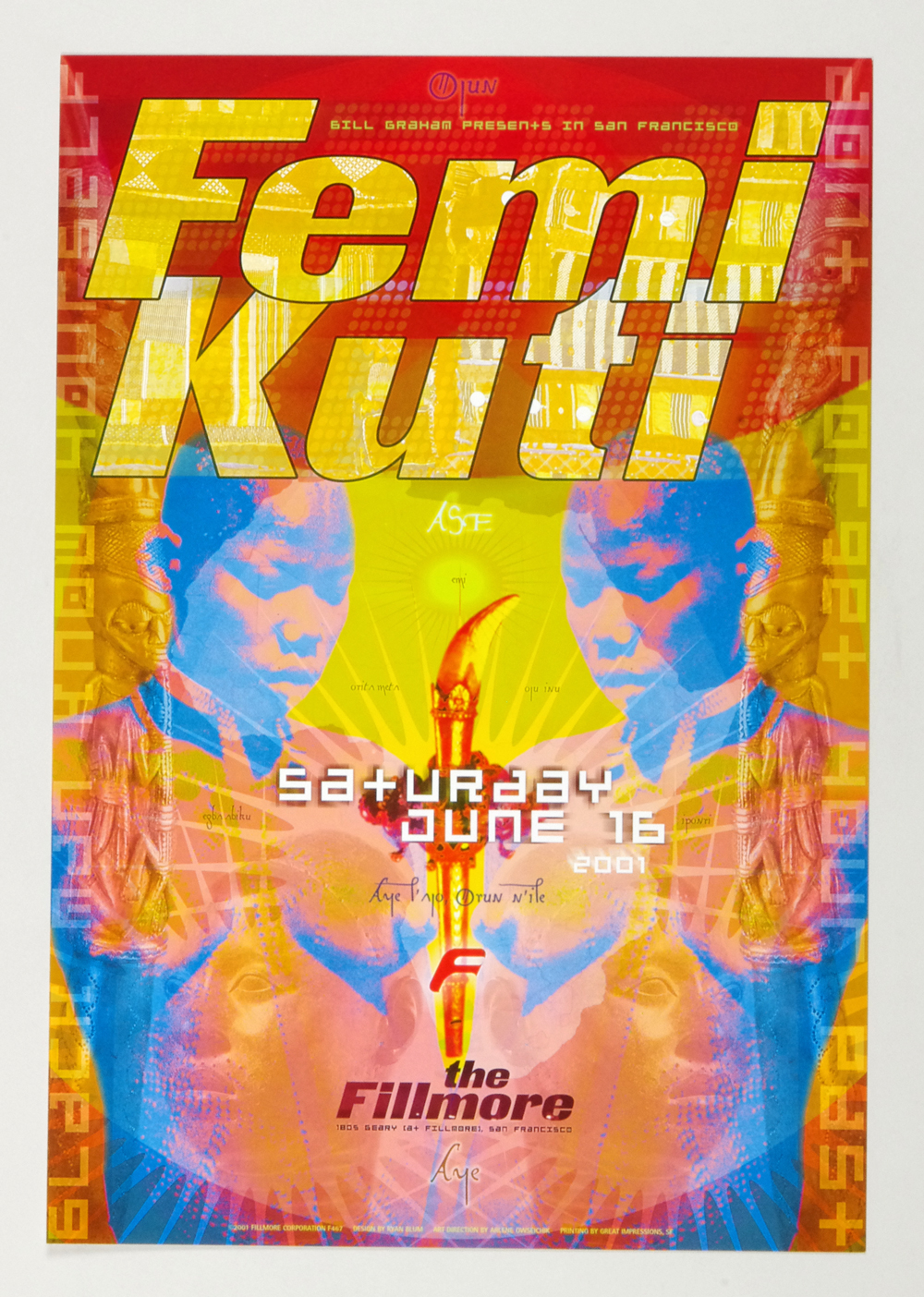 New Fillmore F467 Poster Femi Kuti 2001 Jun 16
