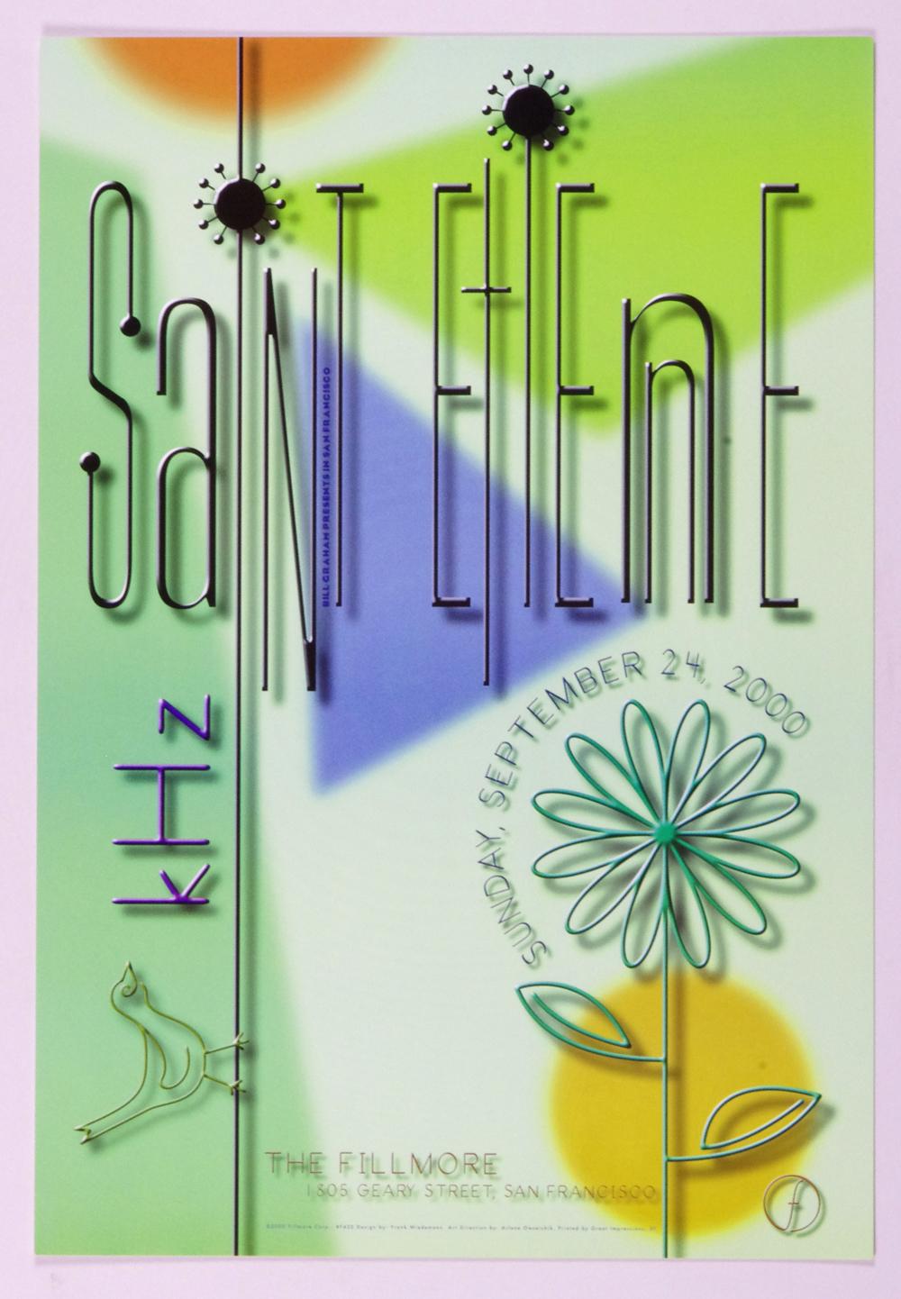 Saint Etienne Poster 2000 Sep 24 New Fillmore