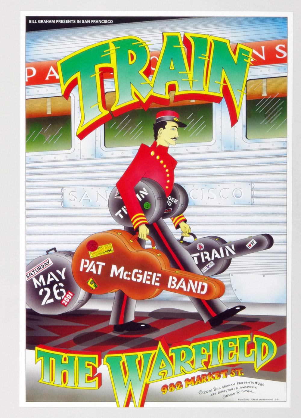 Bill Graham Presents Poster 2001 May 26 Train #260