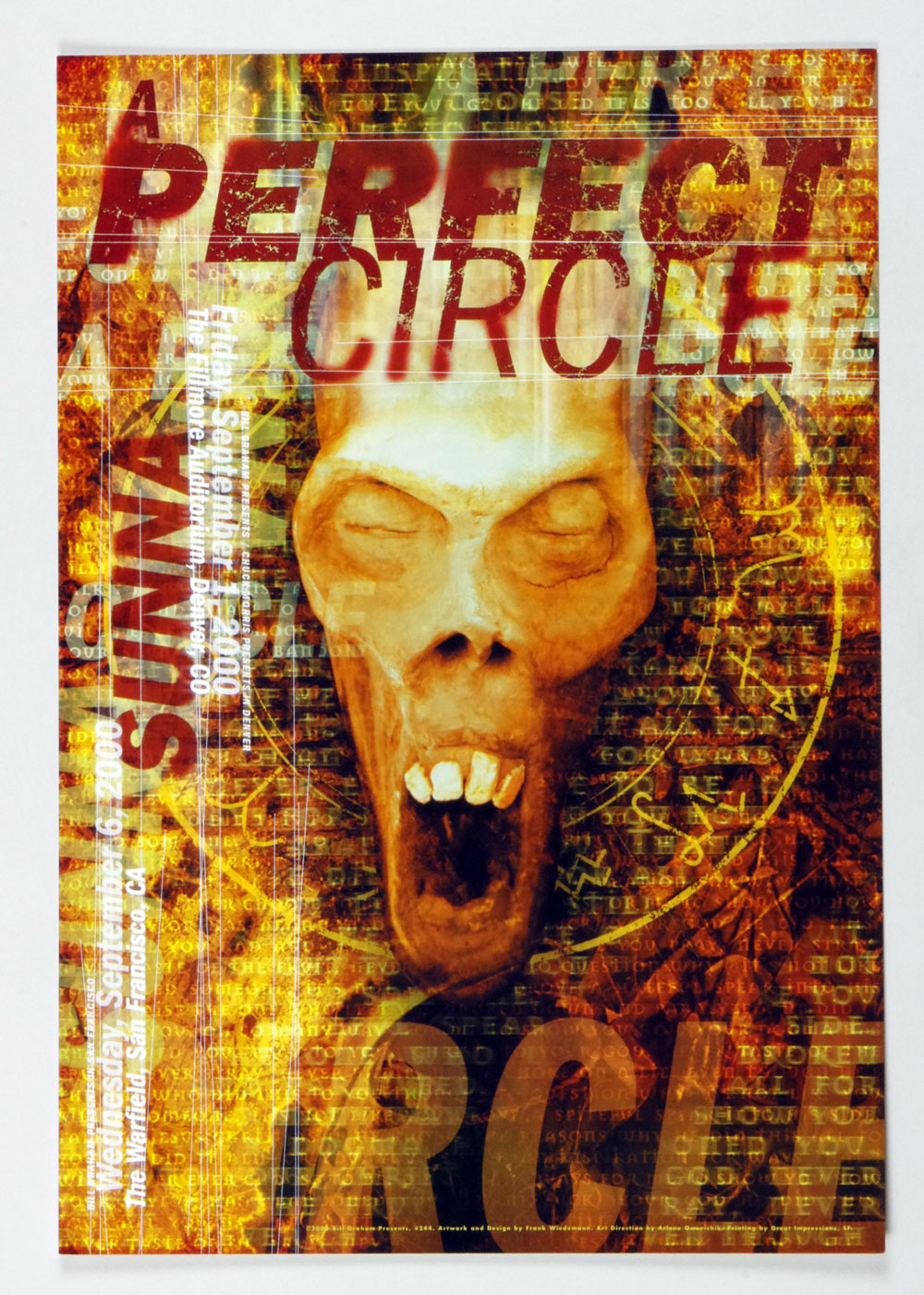 Bill Graham Presents Poster 2000 Sep 6 A Perfect Circle #244 Frank Weidemann