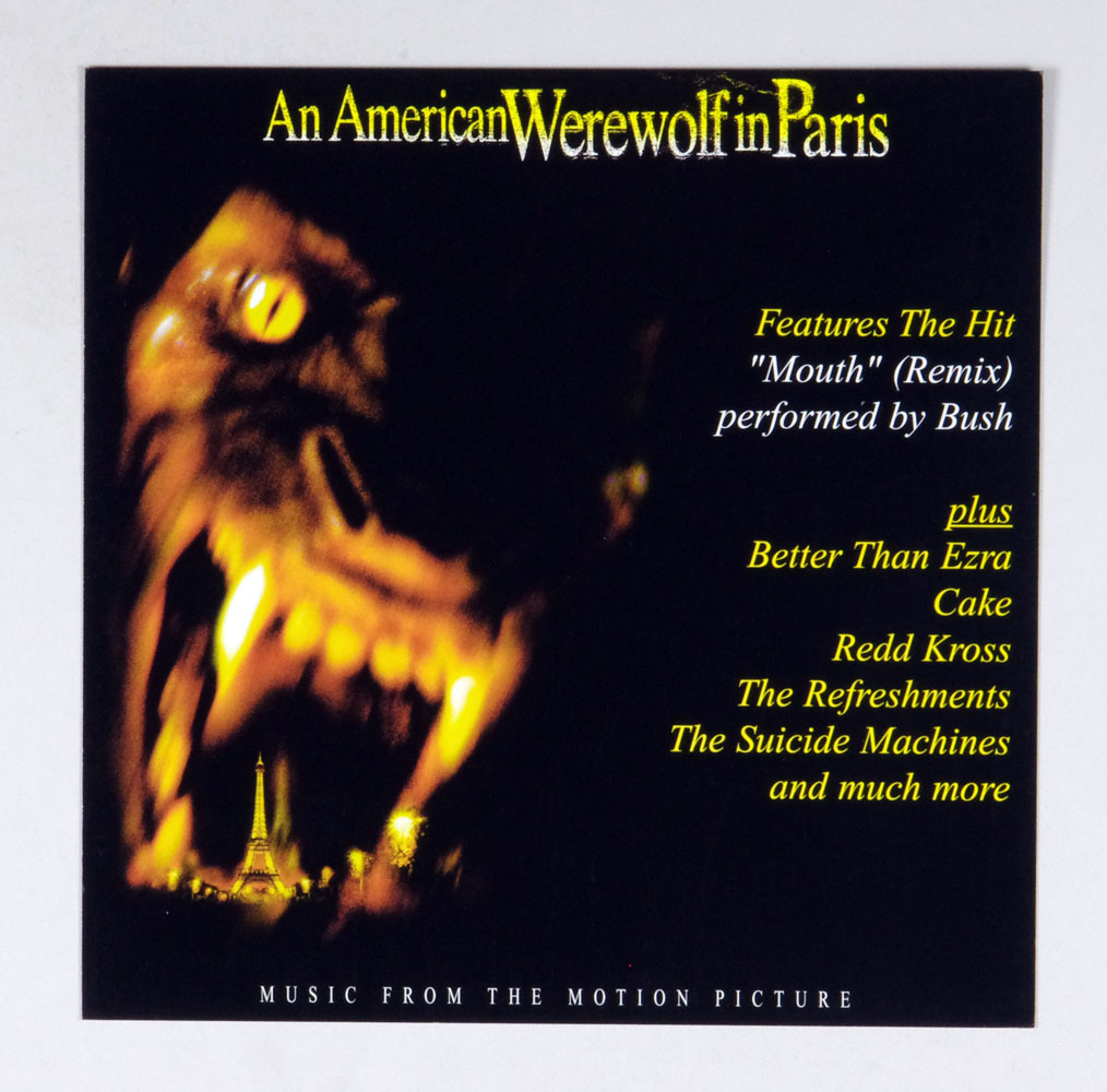 An American Werewolf in Paris Movie Poster Flat 1997 OST Album Promo 12x12 2 sided