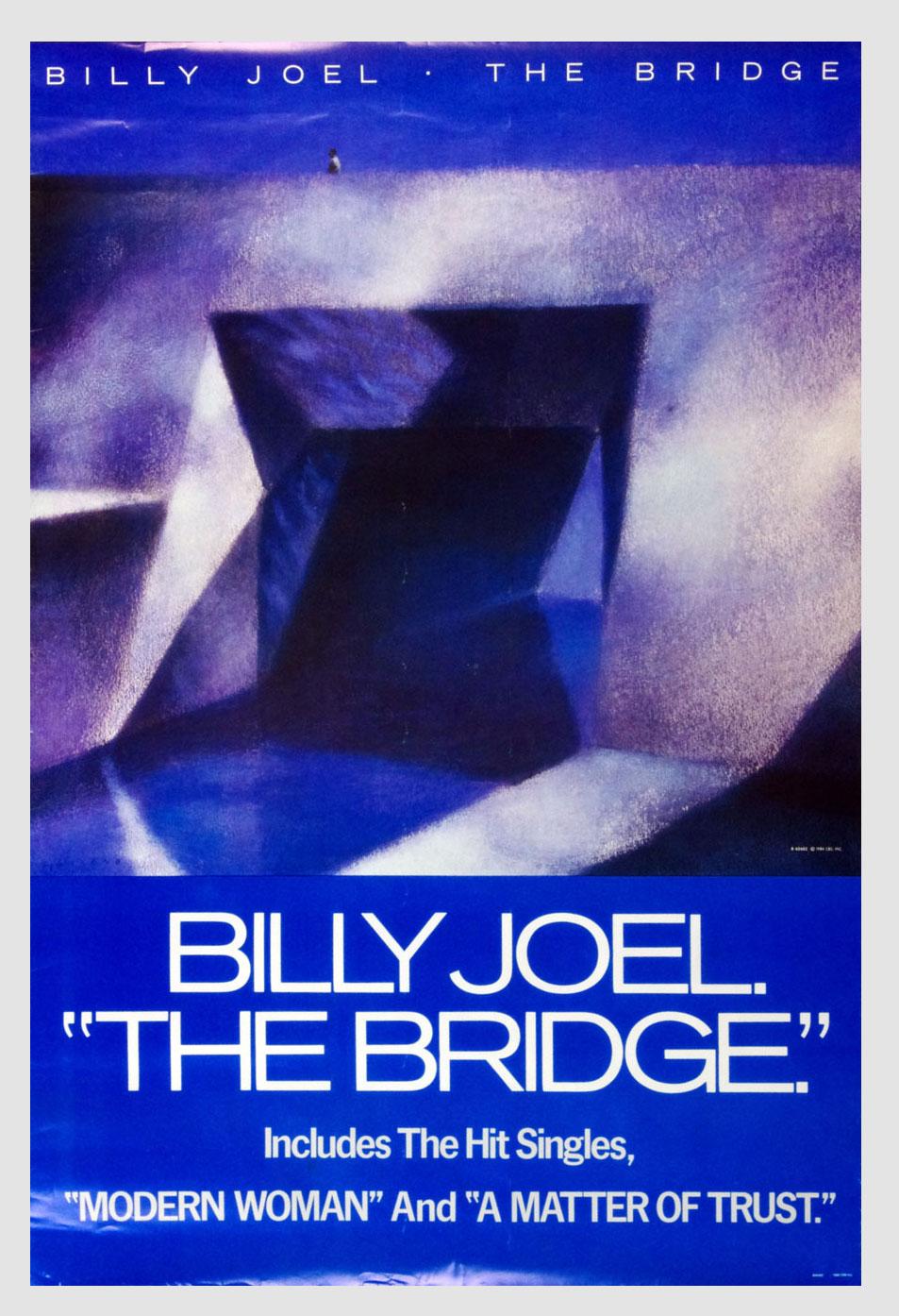 Billy Joel Poster The Bridge 1986 New Album Promotion 24 x 36