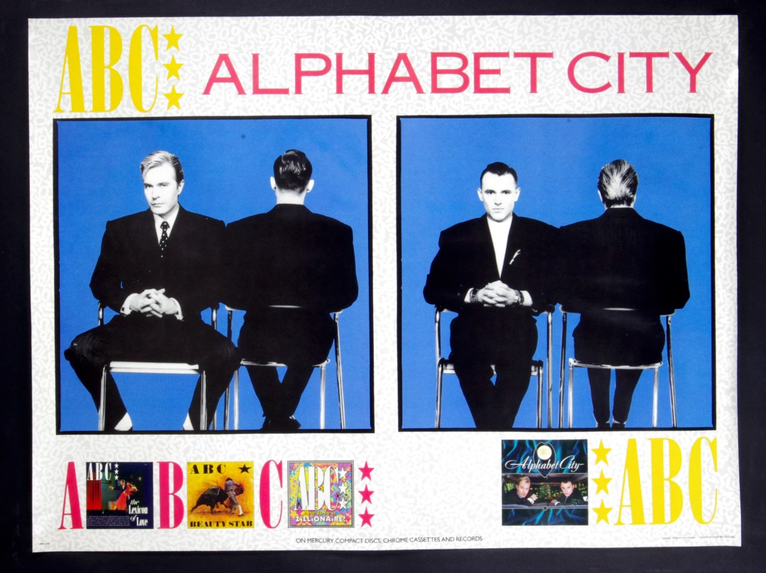 ABC Alphabet City Poster 1987 New Album Promo 24 x 32