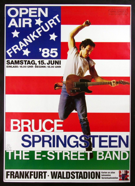 Bruce Springsteen Poster 1985 June 15 Frankfurt Germany 33 x 46