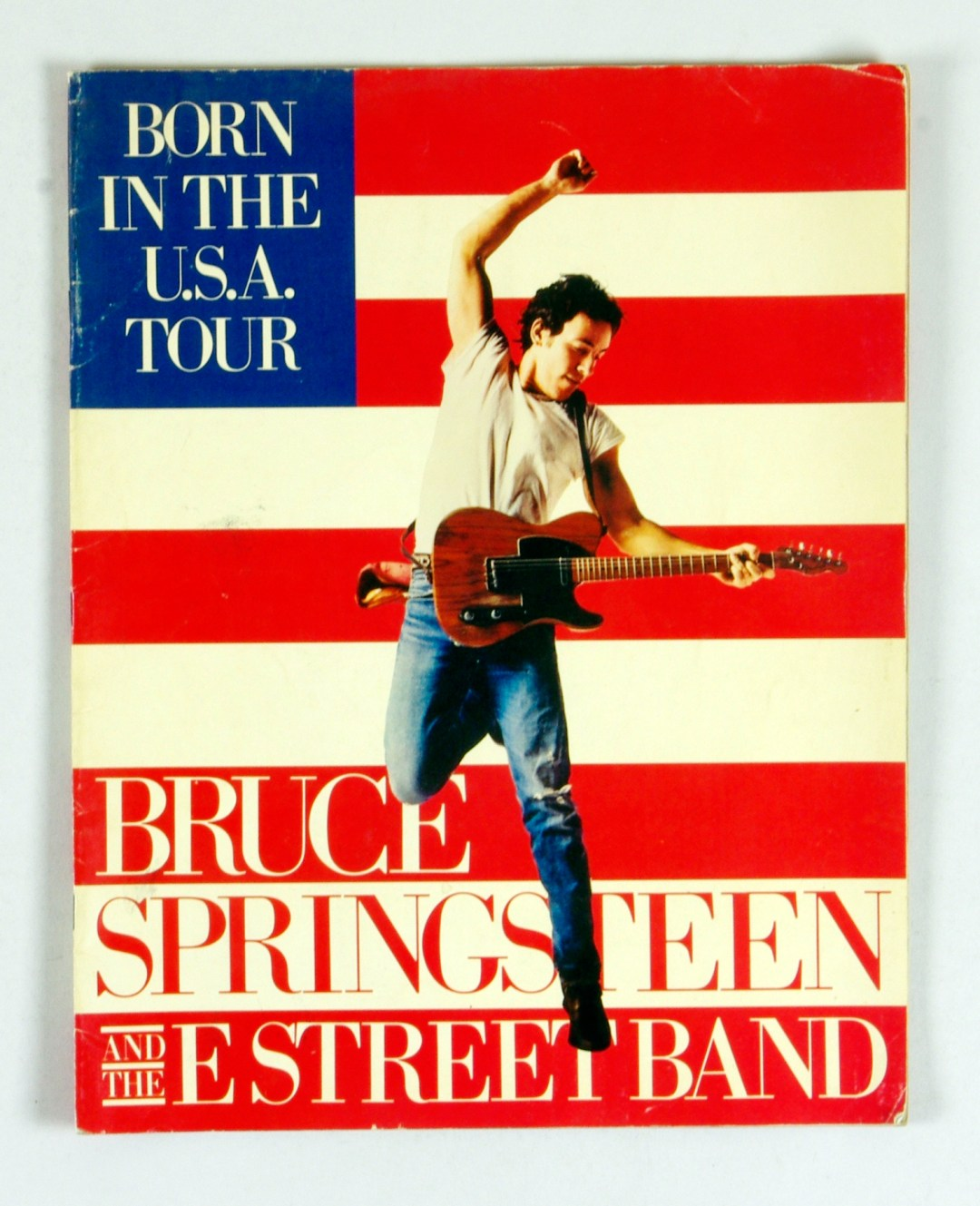 Bruce Springsteen Program Book 1984 1985 Born In The USA Tour 11 x 14