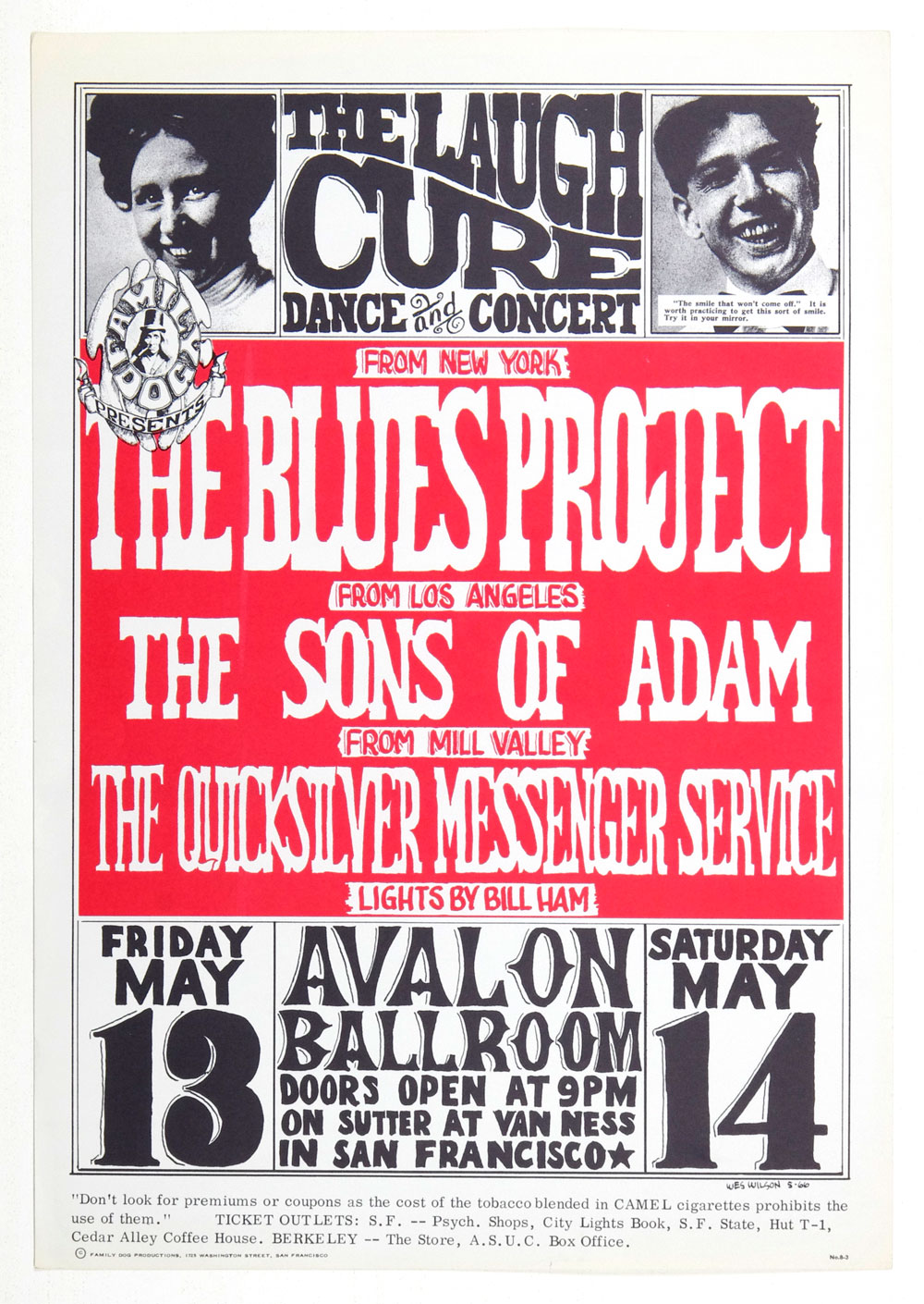 Family Dog 008 Poster Laugh Cure 1966 May 13 Blues Project Quicksilver Messenger Service