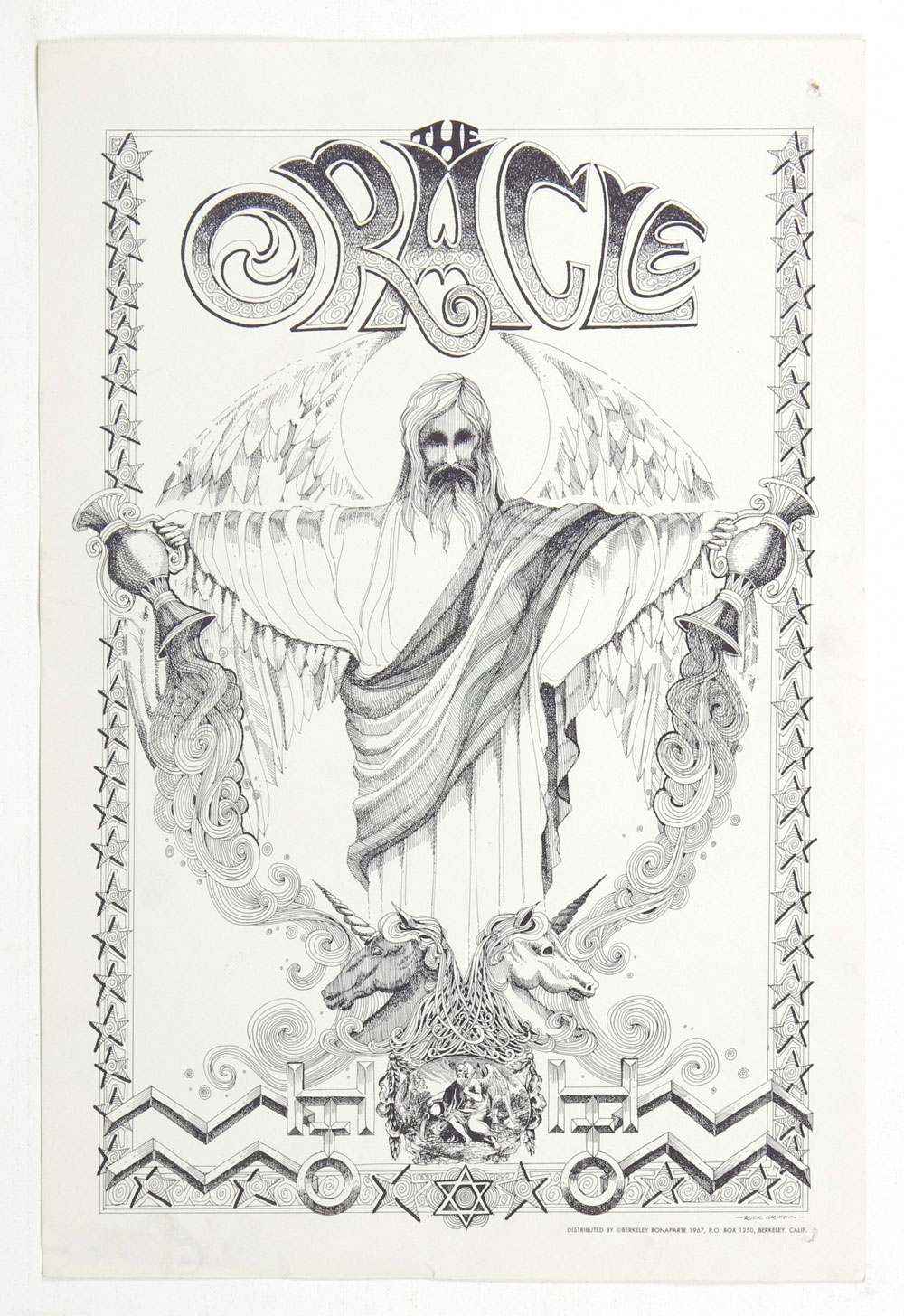 Rick Griffin Poster 1967 ORACLE Psychedelic Newspaper of Haight Ashbury Vol 1 No 6