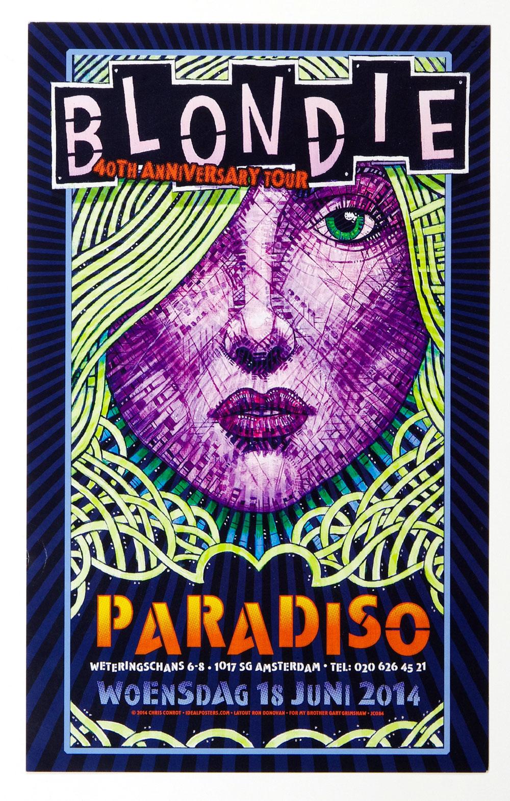 Blondie Poster 2014 Jun 18 Paradiso Amsterdam Netherlands