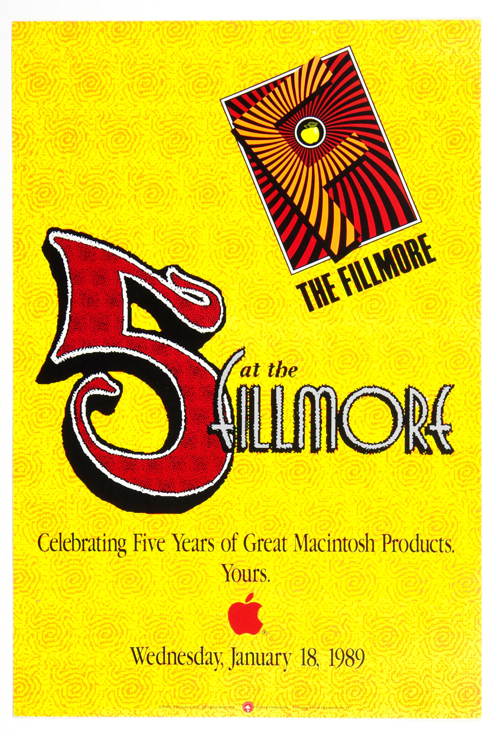 Mcintosh Products Celebrating Five Years of Great  Poster New Fillmore