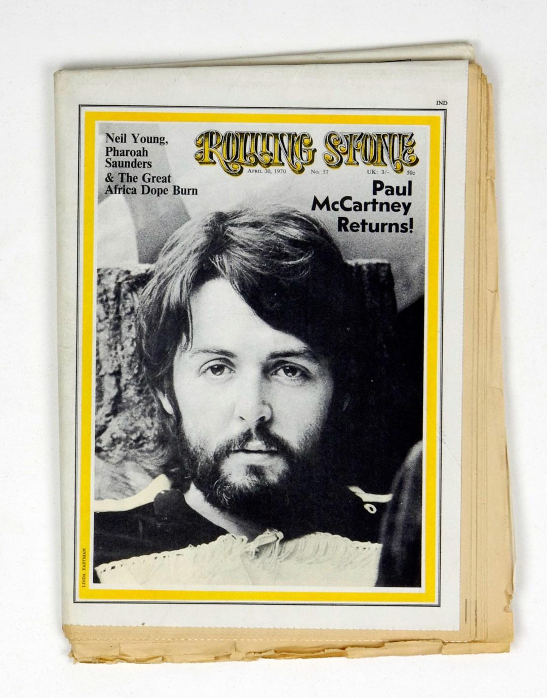 Rolling Stone Magazine 1970 Apr 30 No. 57 Paul McCartney
