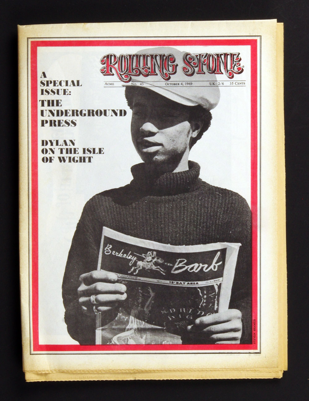 Rolling Stone Magazine 1969 Oct 4 No. 43 Bob Dylan on the Isle of Wight