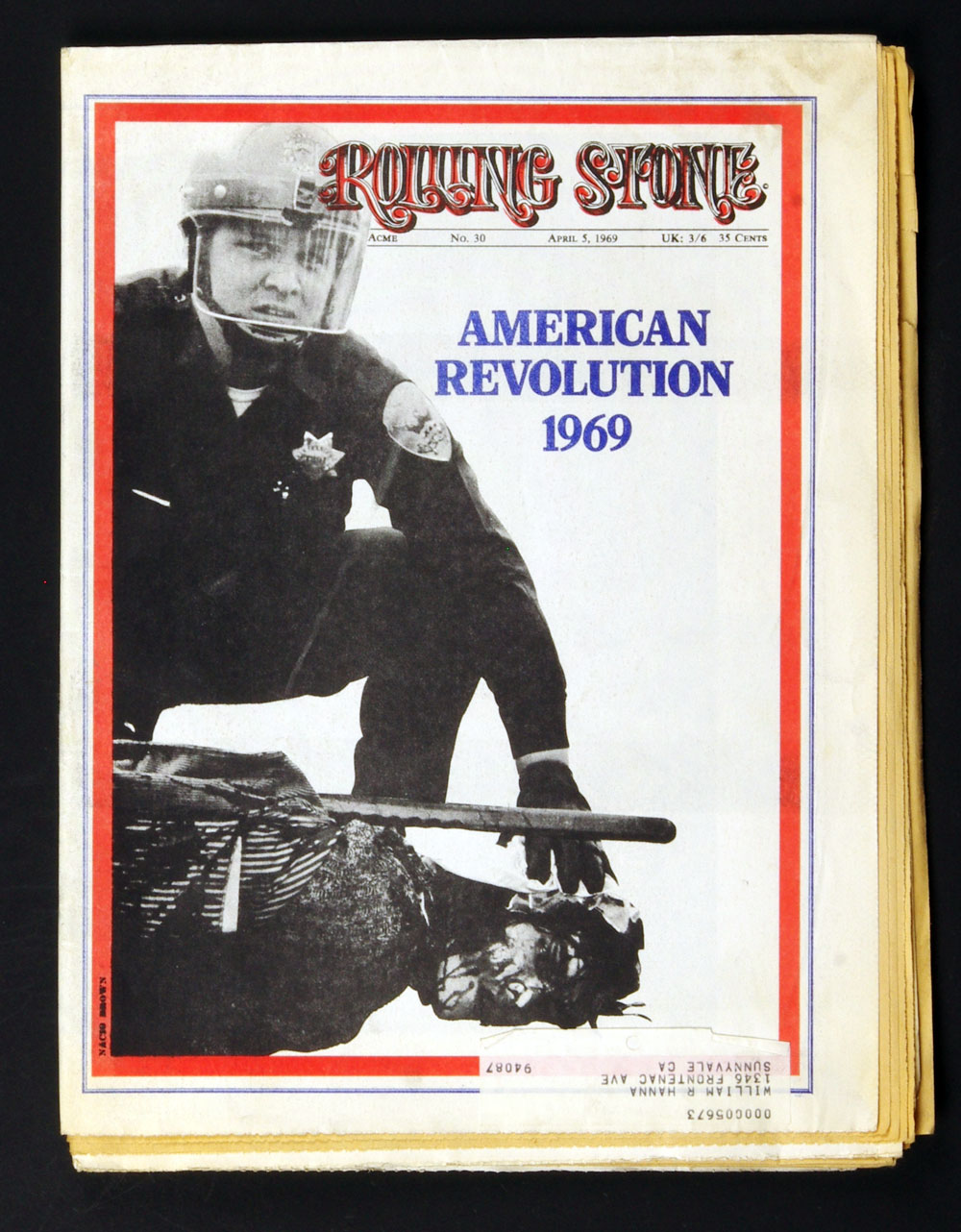 Rolling Stone Magazine 1969 Apr 5 No. 30 Wanted Jim Morrison In the County of Dade