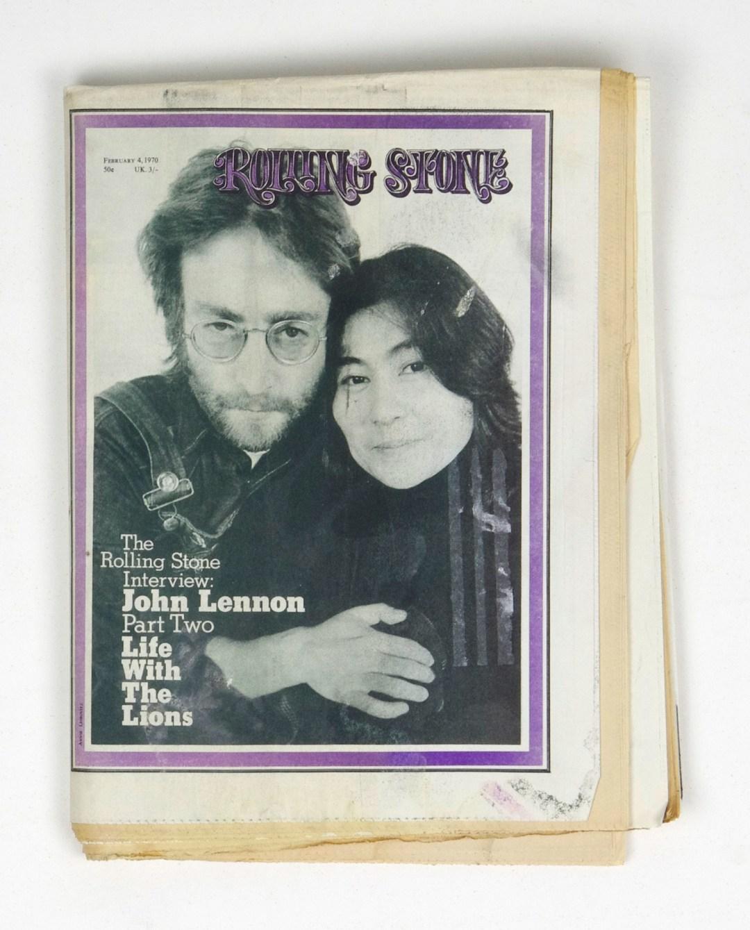 Rolling Stone Magazine 1970 Feb 4 No. 51 John Lennon Yoko Ono
