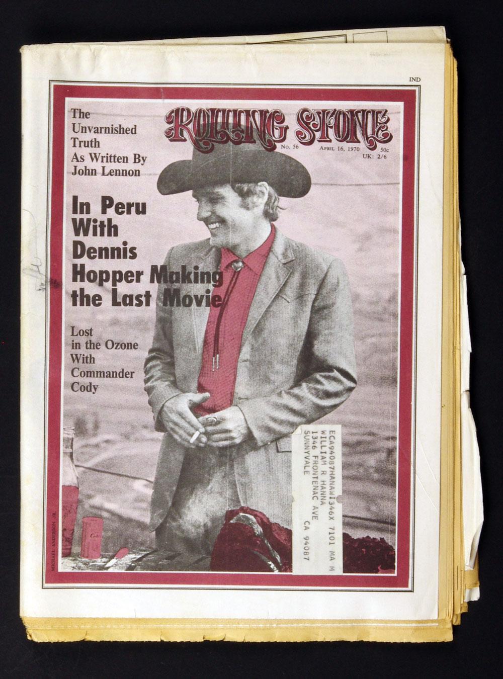 Rolling Stone Magazine 1970 Apr 16 No.56 Dennis Hopper